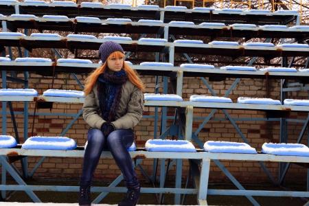 Teenie-M�dchen im Stadion