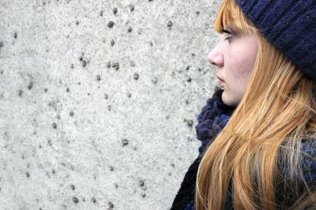 sad teen girl Stock Photo