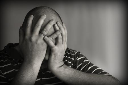 trauriger Mann