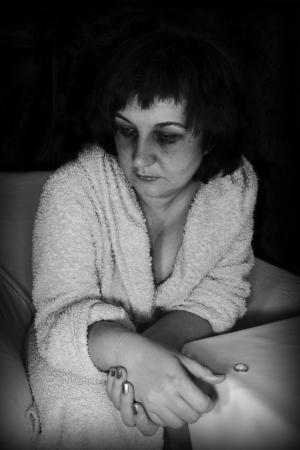 Frau im Niedergang