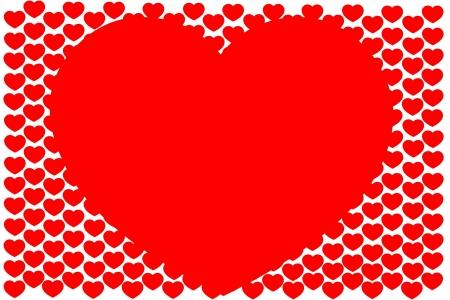 Background from hearts Stock Photo - 17334387