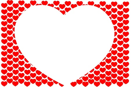 Background from hearts Stock Photo - 17314893