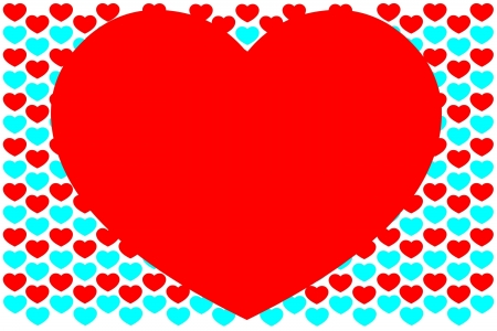 Background from hearts Stock Photo - 17314870