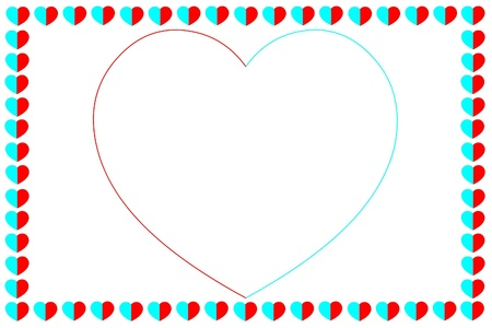 Background from hearts Stock Photo
