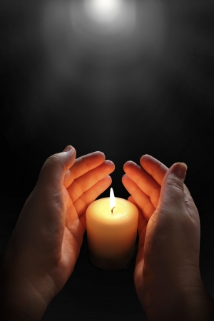 memorial candle: candle flame