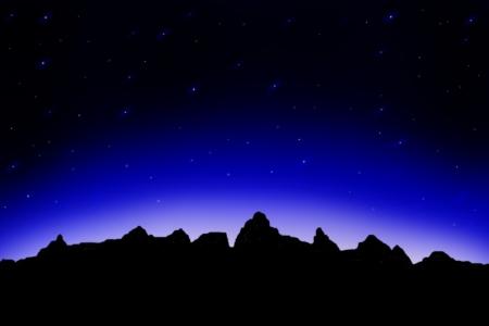 eventide: starry sky Stock Photo