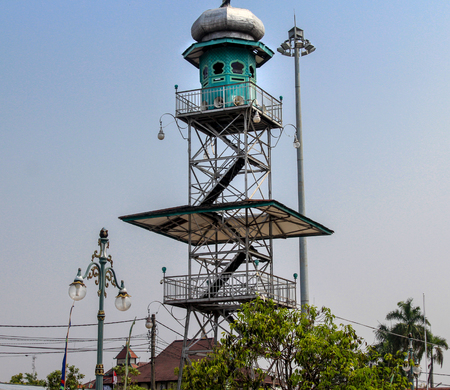 the tower of the great mosque of Demak is one of the oldest mosques in Indonesia