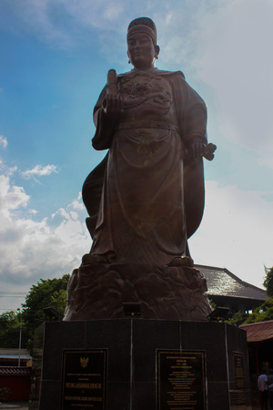 Statue of Cheng Ho / Zheng He in Semarang, Indonesia. he is a famous Chinese sailor and explorer. Among his explorations was an expedition to Indonesia.