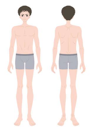 Male whole body inner wear