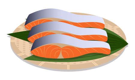 Fillet of salmon Illustration