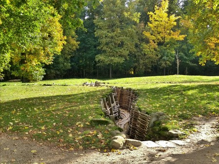 trench: WWI trench in Diksmuide, Belgium Stock Photo