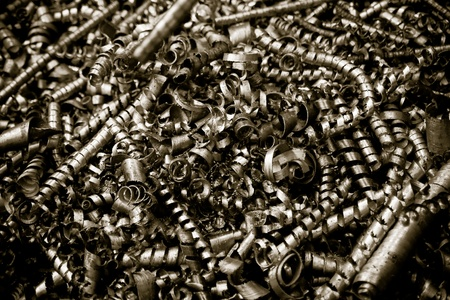 Steel sharp scobs Stock Photo