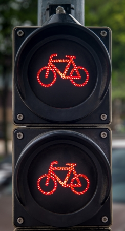 Traffic lights for cyclists Stock Photo