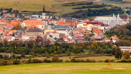 Famous Town of Levoca, Slovakia   Stock Photo