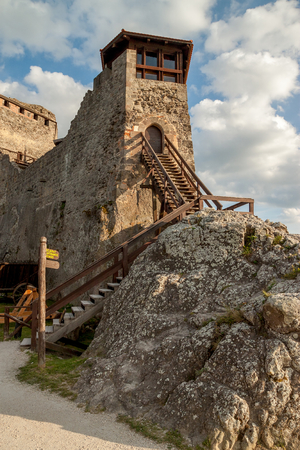 fortify: Fortress in Visegrad on the hill above the Danube river, Hungary