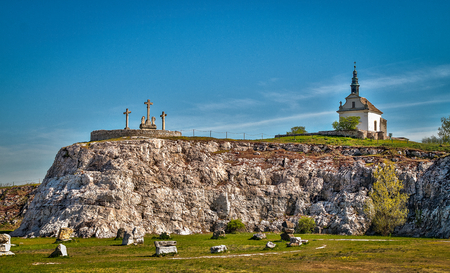 Calvary chapel in Tata Hungary Stock Photo