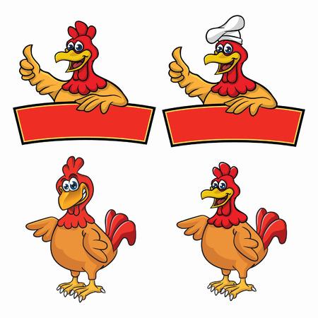 chiken mascot Vector