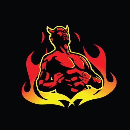diable rouge: Burning red devil