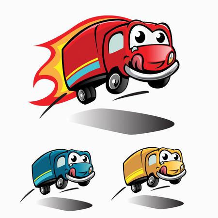 teherautók: food jumping truck Illusztráció