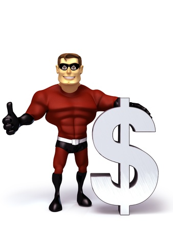 hero with dollar symbol photo