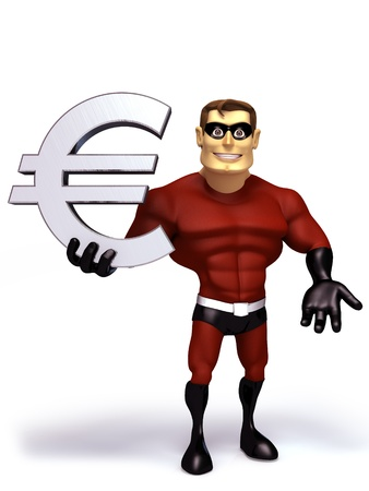 hero hold euro symbol photo