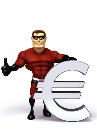 hero with euro symbol photo