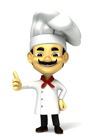 3d chef thumb up photo