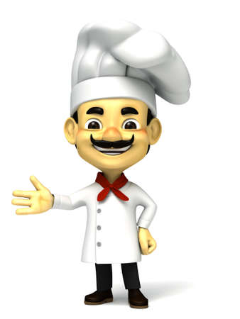 3d chef welcome pose photo