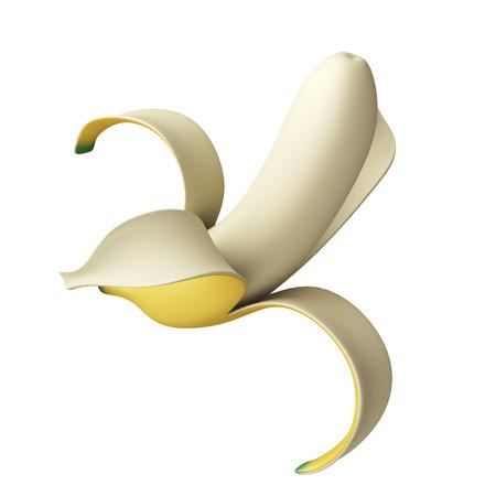 half open: half open banana Stock Photo