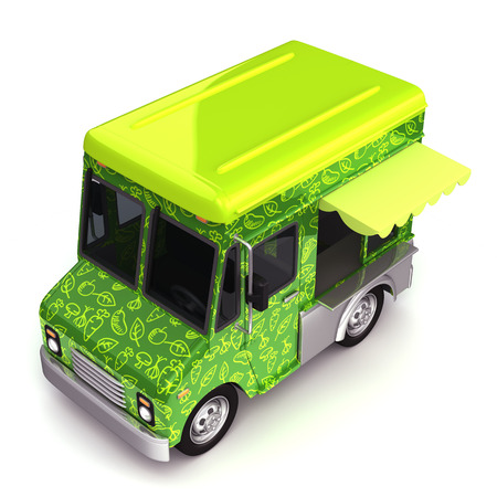 Eco green food truck top photo
