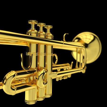 notes notes: 3d illustration of Trumpet Stock Photo