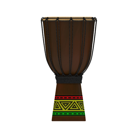 bongo drum: Jembe drum with texture rasta
