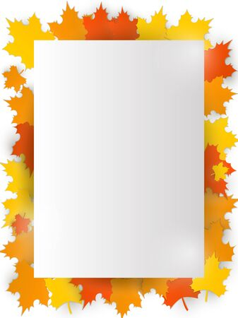 Greeting Thanksgiving cards, decorated with maple leaves