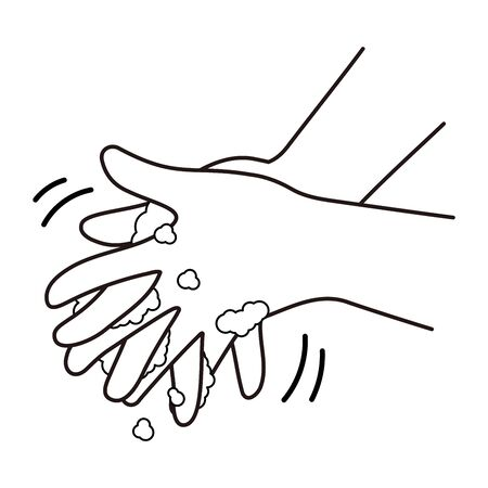 Proper hand washing procedure # 5, wash between fingers.