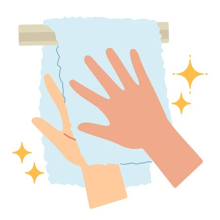 Proper hand washing procedure # 9, Wipe well with a clean towel.