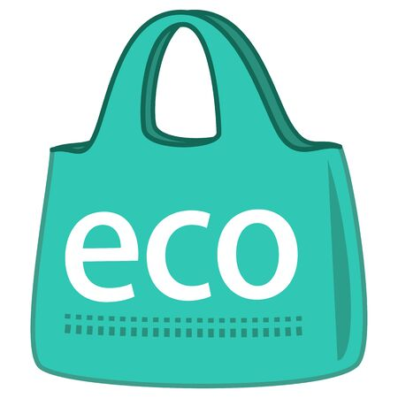 One green simple my bag reflecting the image of eco activities. Vettoriali