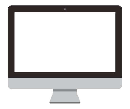 A simple front-facing desktop computer screen that is transparent inside the screen.