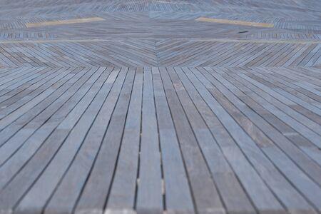 Wood deck of Osanbashi