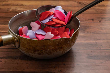The image of a dish filled with love Reklamní fotografie