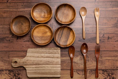 Wooden tableware and cutting board