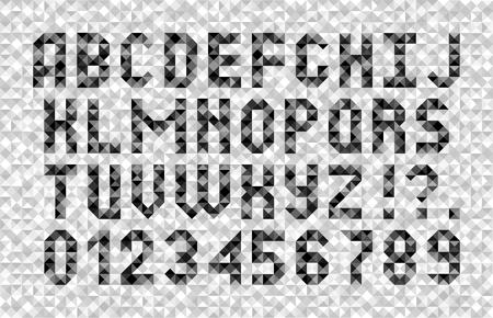 Abstract alphabet. Mosaic