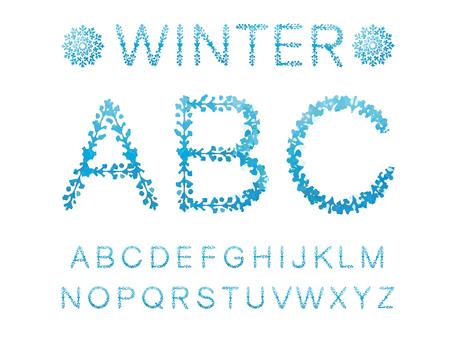 Winter abstract alphabet Illustration