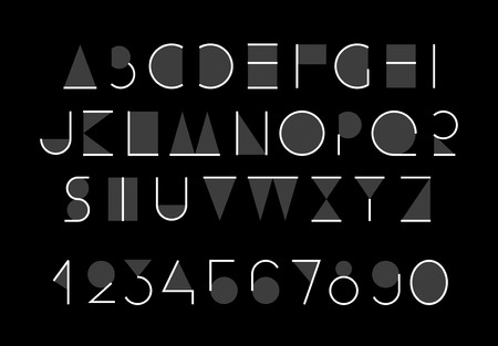 Abstract alphabet. Eps 8