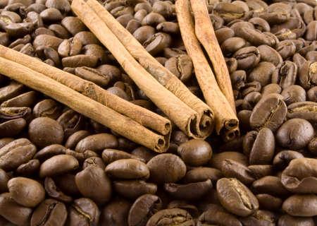 Un lote de semillas marrón café y la canela  Foto de archivo - 2744369