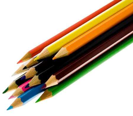 A lot of isolated coloured pencils Stock Photo - 2888596