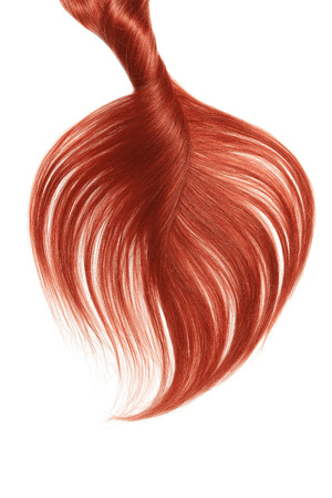 Lush red hair isolated on white background Фото со стока