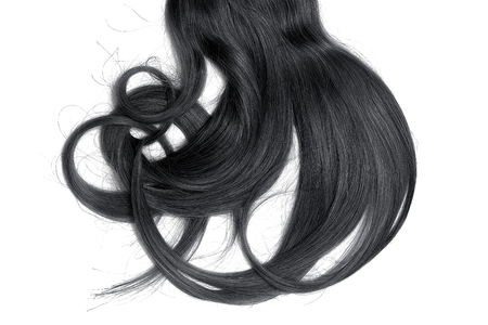 Bad hair day concept. Long, black, disheveled ponytail