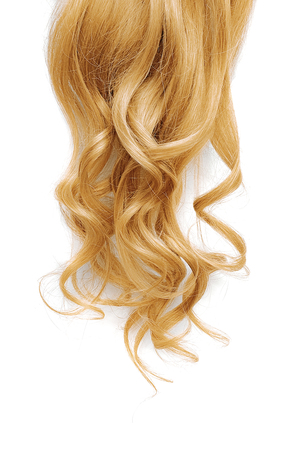Long wavy blond hair isolated on white background Stock fotó