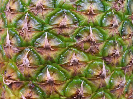 Close up shot of pineapple fruit texture