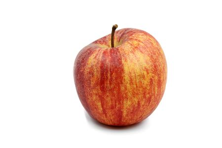 one red apple isolated on white background